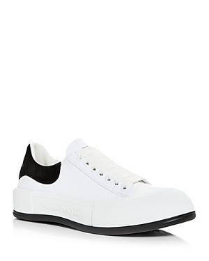 Alexander McQUEEN Men's Deck Suede Heel Detail Low Top Sneakers