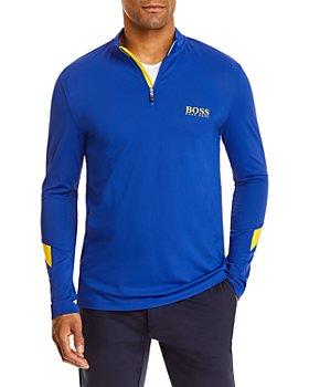 BOSS - Piraq Logo Print Slim Fit Quarter Zip Sweatshirt
