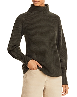 Shaker Stitch Cashmere Turtleneck Sweater