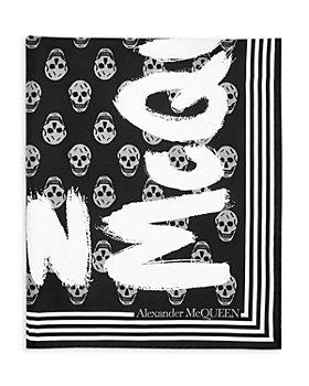 Alexander McQUEEN - Graffiti Logo Biker Silk Scarf