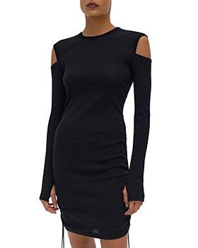 Helmut Lang - Ribbed Shoulder Cutout Dress