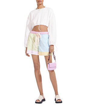 STAUD - Aft Striped Drawstring Shorts