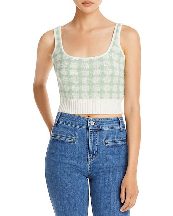 Lucy Paris - Gingham Cropped Tank Top