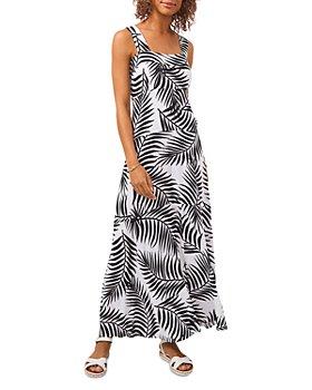 VINCE CAMUTO - Palm Print Paneled Maxi Dress