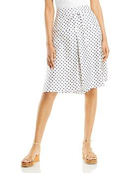 Lanvin - Silk Polka Dot Skirt