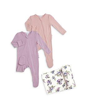 Angel Dear - 3-Pc. Set Solid Ruffled Footies & Swaddle Blanket - Baby