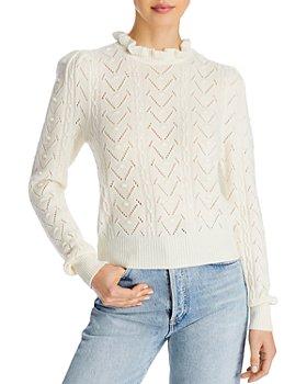AQUA - Ruffled Turtleneck Sweater - 100% Exclusive