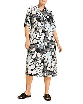 Marina Rinaldi - Digione Oversized Floral Print Shirtdress