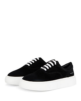 The Kooples - Men's Black Contrast Sole Lace Up Sneakers