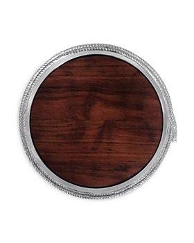 Mariposa - Rope Round Cheese Board with Dark Wood Insert