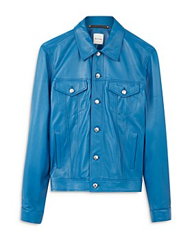 Paul Smith - Gents Leather Denim-Style Jacket