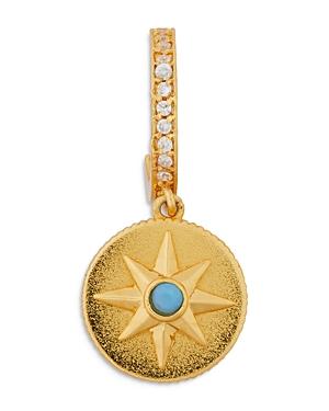 kate spade new york Star Medallion Huggie Hoop Earrings