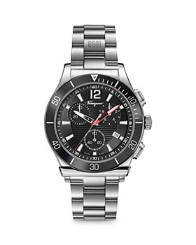 Salvatore Ferragamo - 1898 Sport Stainless Steel Bracelet Chronograph Watch, 44mm (54% off) - Comparable value $1,295