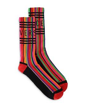 Versace - Logo Stripe Socks