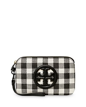 Tory Burch - Perry Bombe Gingham Leather Wristlet