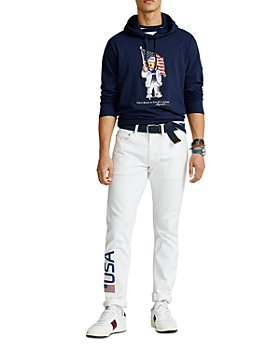 Polo Ralph Lauren - Team USA ECOFAST™ Pure Polo Bear Hooded Tee & Closing Ceremony Sullivan Slim Fit Jeans