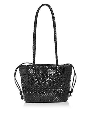 Sora Woven Leather Shoulder Bag