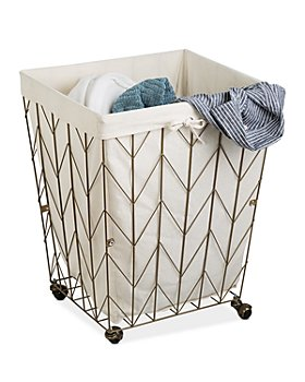 Honey Can Do - Chevron Rolling Wire Hamper (35% off) - Comparable value $93