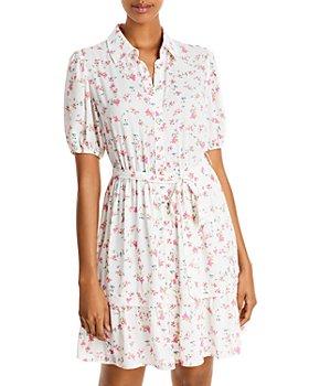 AQUA - Ditsy Floral Button-Down Dress - 100% Exclusive