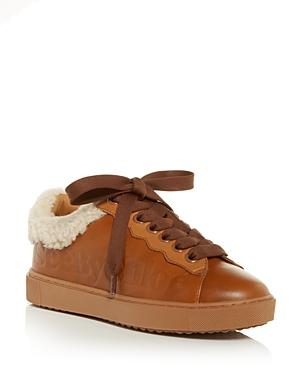See by Chloe Women's Essie Shearling Low Top Sneakers