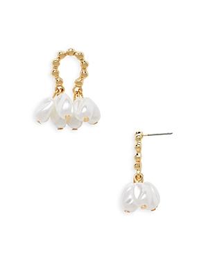 Aqua Simulated Pearl Cluster Earrings - 100% Exclusive