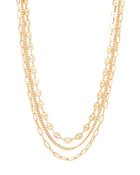 "AQUA - Triple Layered Chain Necklace, 15"" - 100% Exclusive"