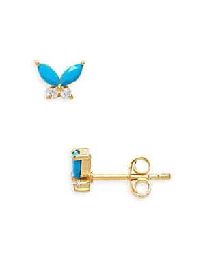 Butterfly Moonstone Stud Earrings