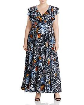AQUA Curve - Butterfly Print Maxi Dress - 100% Exclusive