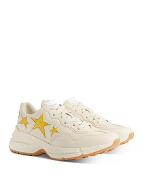 Gucci - Men's Rhyton Faux Leather Star Sneakers