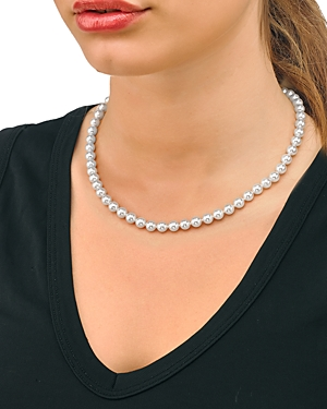 Round Simulated Pearl Necklace