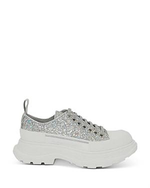 Alexander McQUEEN Women's Tread Slick Glitter Low Top Platform Sneakers