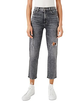 7 For All Mankind - Cropped Straight Jeans in Dusk