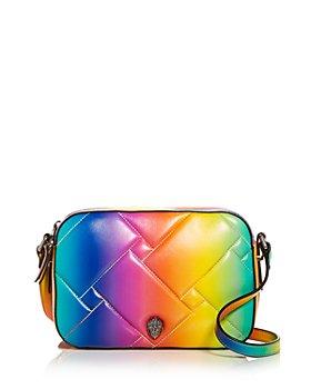 KURT GEIGER LONDON - Kensington Ombré Rainbow Leather Crossbody
