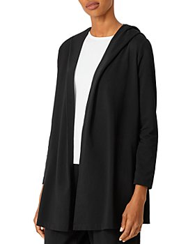 Eileen Fisher - Hooded Open Front Jacket