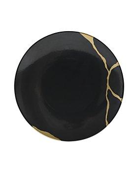 Bernardaud - Kintsugi Charbon Coupe Salad Plate