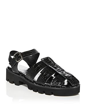 Women's Austin Croc Embossed Ankle Strap Sandals