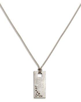 """ALLSAINTS - Pavé Sparkle Dog Tag Pendant Necklace, 16"""""""
