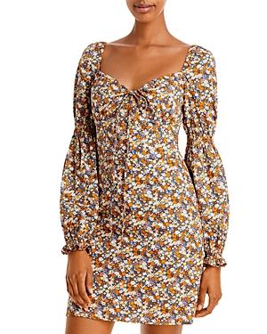 Clarissa Floral Print Mini Dress