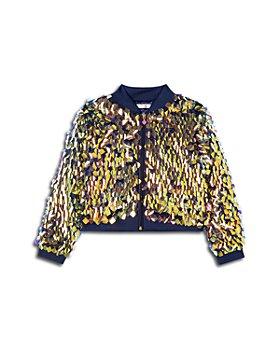 BILLIEBLUSH - Girls' Sequin Bomber Jacket - Little Kid