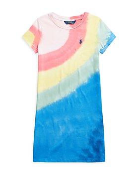 Ralph Lauren - Girls' Tie Dyed Tee Dress - Little Kid, Big Kid
