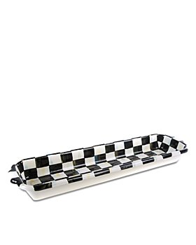 Mackenzie-Childs - Courtly Check Enamel Baguette Dish