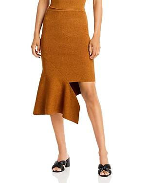 Maria Metallic Asymmetric Skirt