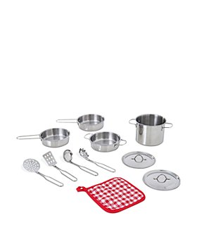Teamson - Little Chef Frankfurt Stainless Steel Cooking Accessory Set - Ages 3+