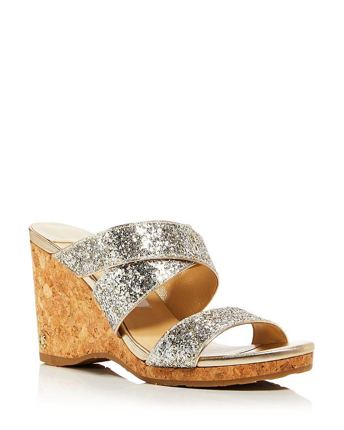 Jimmy Choo - Women's Sue 90 Embellished Wedge Sandals