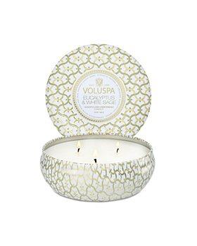 Voluspa - Eucalyptus & White Sage Three Wick Tin Candle 12 oz.