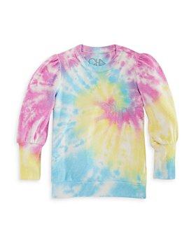 CHASER - Girls' Tie Dye Puff Sleeve Pullover - Little Kid, Big Kid