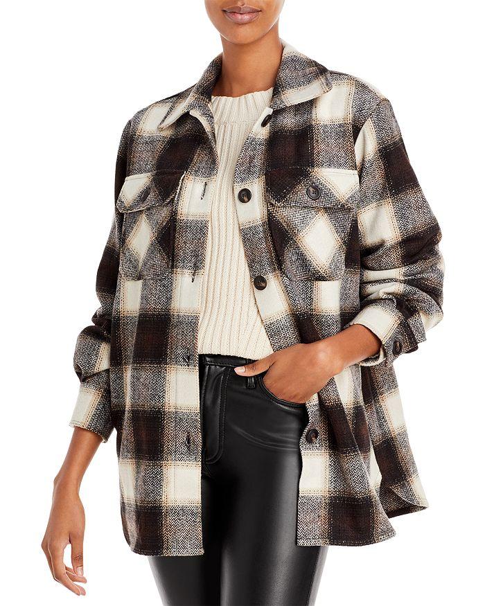 AQUA - Plaid Button Front Jacket