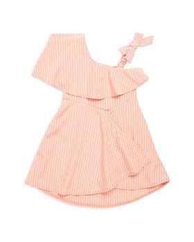 Habitual Kids - Girls' Asymmetrical Striped High Low Dress - Little Kid