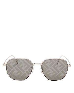Fendi Women's Round Smoke Mirror Sunglasses, 55mm