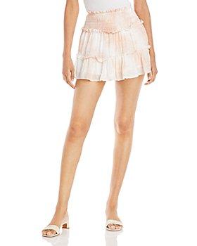 Vintage Havana - Swiss Dot Tiered Mini Skirt